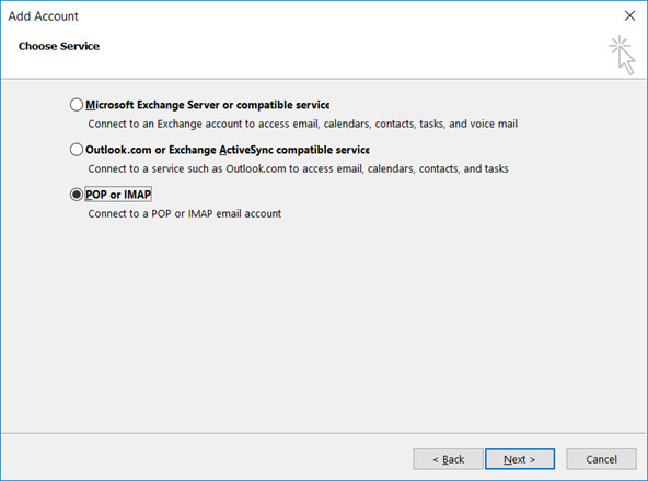Setup email account on your Outlook 2013 Manual Step 3